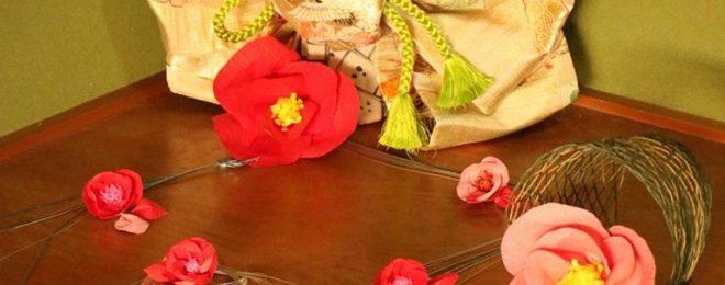 帯飾り 椿 冬