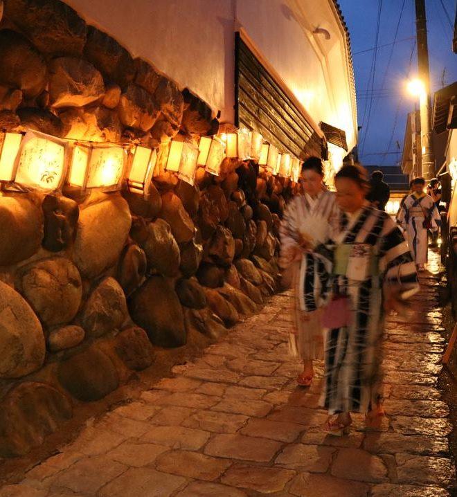 行灯,宗祇水神祭,石畳