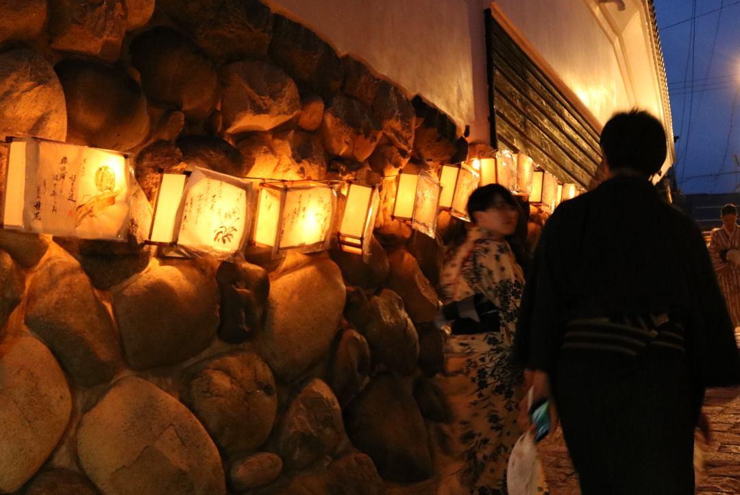 宗祇水神祭,石畳,行灯