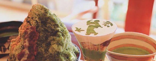 かき氷 パフェ 抹茶