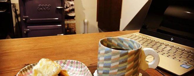 お豆腐のワッフル,挽きたてコーヒー,山石古民家工社