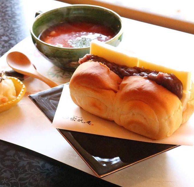 あんバターサンドと季節のスープ 新メニュー ランチメニュー